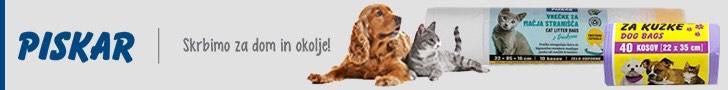 Piskar – vrečke za pasje iztrebke